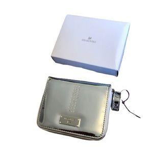 Swarovski silver zip around wallet